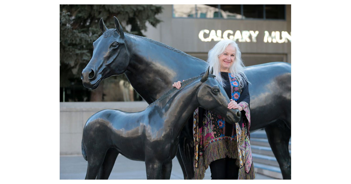 Calgary Herald - Sheri-d Wilson in front of City Hall