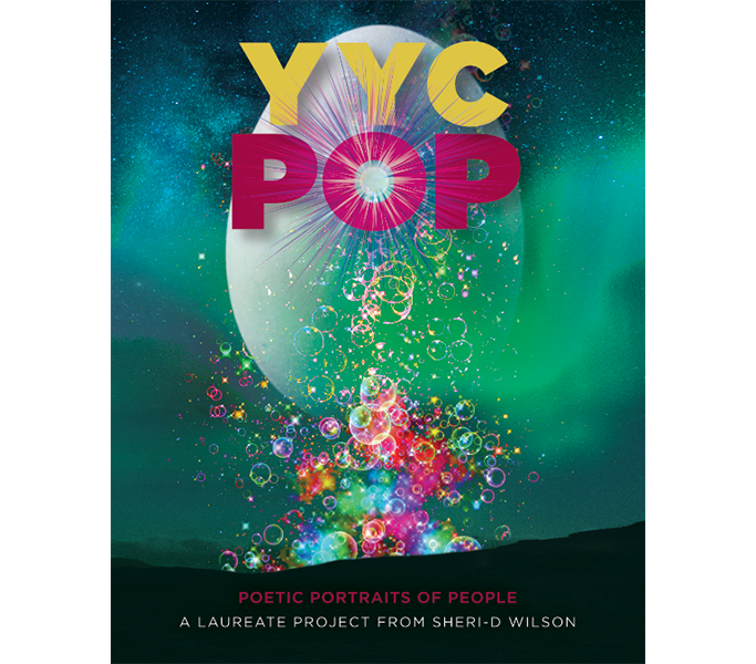 Front cover of the YYC POP: Poetic Portraits of People book